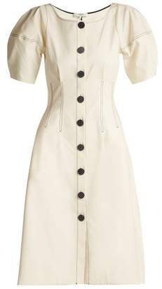 Sea Kamille Lantern Sleeved Cotton Midi Dress - Womens - Cream