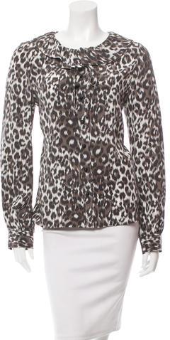 Kate SpadeKate Spade New York Leopard Print Silk Blouse