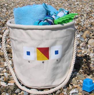 The Original Canvas Bucket Bag Company Beach Bag With SOS Design