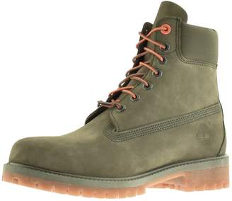 Timberland Premium 6 Inch Waterproof Boots Green