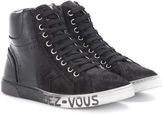 Saint Laurent Joe leather and suede sneakers