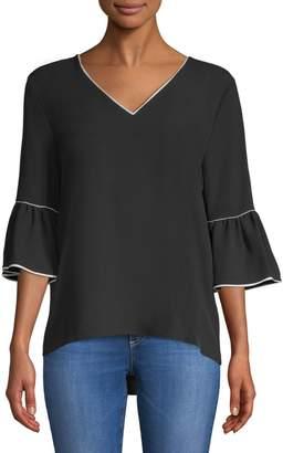 Calvin Klein Collection Ruffled Bell-Sleeve Blouse