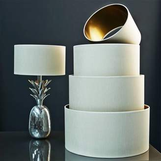 Graham and Green Ivory And Gold Faux Silk Shades