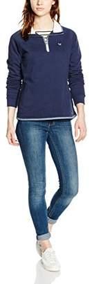 Crew Clothing Women's Half Zip Modern Long Sleeve Sweatshirt