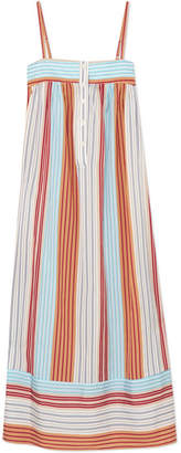 Paul & Joe Striped Satin-jacquard Dress - Orange