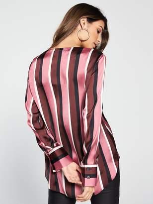 Wallis Stripe Wrap Top