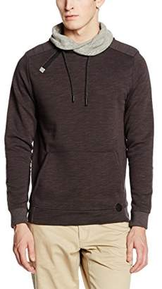 Tom Tailor Men's Zipped Snood Sweatshirt,Small