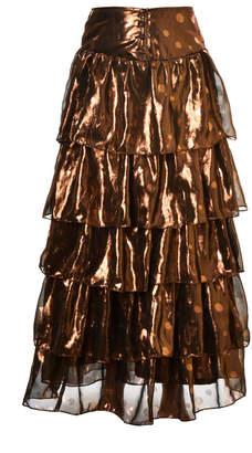 Lilly Sarti Ruffle Maxi Long Skirt