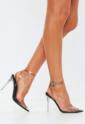 Missguided Black Clear Pump Shoe Heels