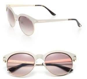 Tom Ford Angela 53MM Round Metal Sunglasses