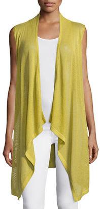 Neiman Marcus Cashmere Collection Mesh Cashmere-Blend Draped Vest $265 thestylecure.com