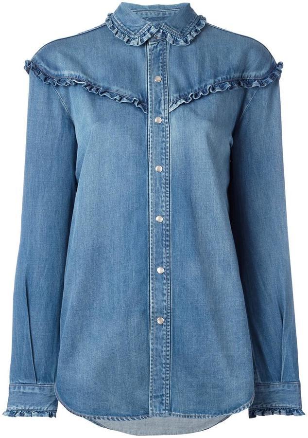 Saint LaurentSaint Laurent classic ruffled Western shirt