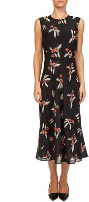 Liviana Conti Floral Silk Dress
