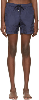Moncler Navy Drawstring Swim Shorts $220 thestylecure.com