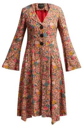Etro Soul Circus Floral Print Crepe Coat - Womens - Pink Print