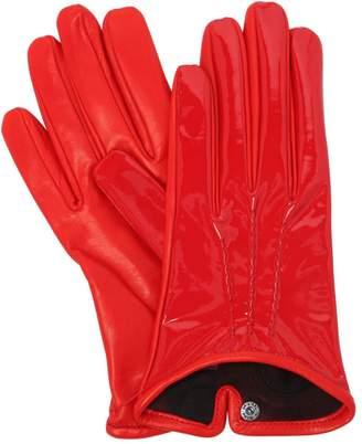 Portolano Mario Patent & Nappa Leather Gloves