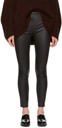 Alexander Wang Black Skinny Leather Pants