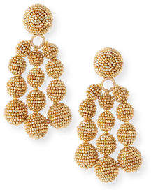 Sachin + Babi Trinity Beaded Clip Earrings