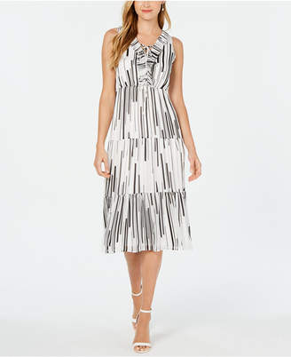 Taylor Petite Tiered Lace-Up Dress