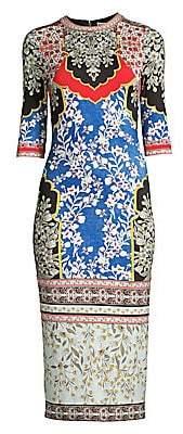 Alice + Olivia Women's Deloral Floral Sheath Dress - Size 0