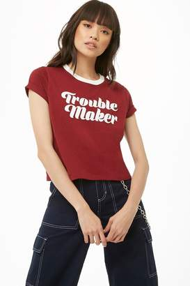 Forever 21 Trouble Maker Graphic Tee