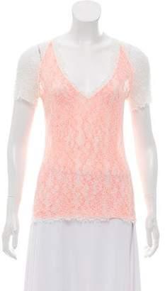 Chanel Open Knit Short Sleeve Top