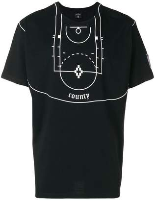 Marcelo Burlon County of Milan NBA Court T-shirt