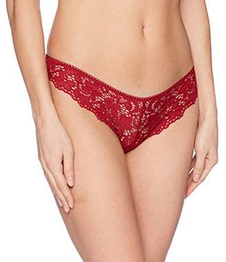 DKNY Women's Classic Cotton Lace Thong