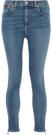 Zip-Detailed High-Rise Skinny Jeans