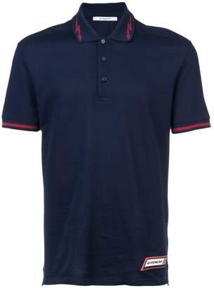 Givenchy logo patch polo shirt