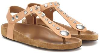 Isabel Marant Enore embellished leather sandals
