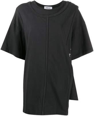 Ambush layered cotton t-shirt black