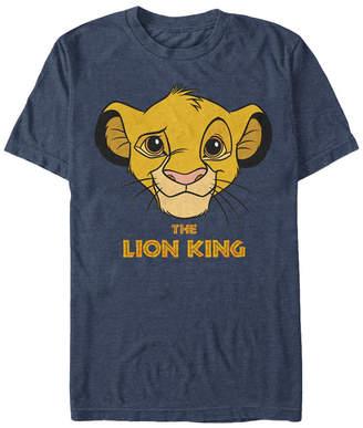 Simba Disney Men Lion King Young Face Short Sleeve T-Shirt