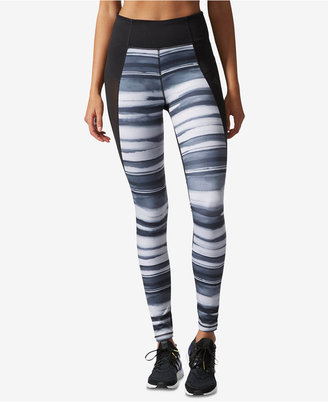 adidas Performer Climalite® Oxidized Striped Leggings $60 thestylecure.com