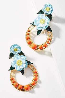 Elizabeth Cole Odessa Hooped Drop Earrings