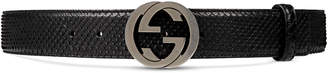 Python belt with interlocking G $360 thestylecure.com