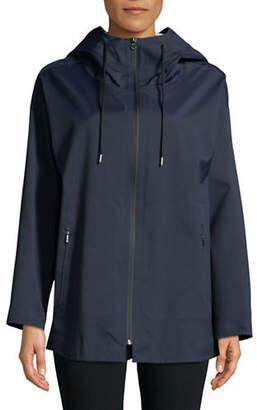 Max Mara Nylon Twill Hooded Raincoat