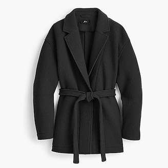 J.Crew Camille short wrap coat in Italian boiled wool