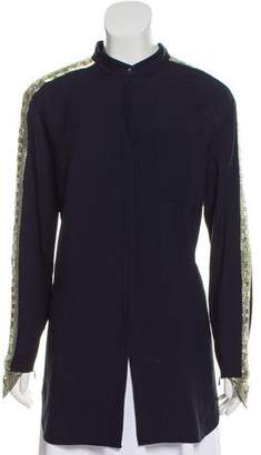 Chloé Jewel-Embellished Button-Up Top