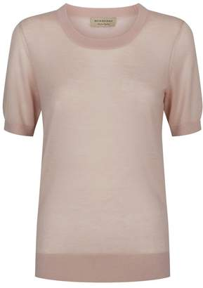 Burberry Short-Sleeved Cashmere Sweater