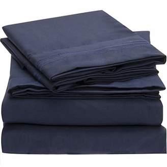 Mellanni Striped Bed Sheet Set Brushed Microfiber 1800 Bedding - Wrinkle