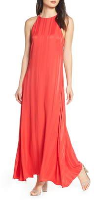NSR Paola Halter Maxi Dress