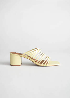 And other stories Strappy Square Toe Heeled Sandals