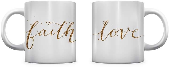 One Bella Casa Faith Love Mugs (Set of 2)