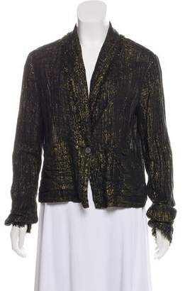 Raquel Allegra Metallic Frayed Blazer w/ Tags