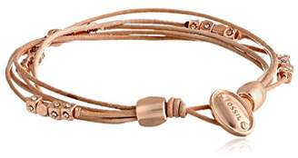 Fossil Multi-Strand Leather Wrist Wrap Bracelet