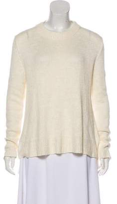 Brock Collection Silk & Linen-Blend Rib Knit Sweater