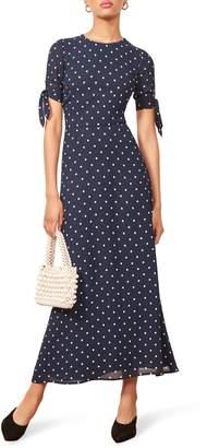 Reformation Amsterdam Tie Sleeve Body-Con Maxi Dress