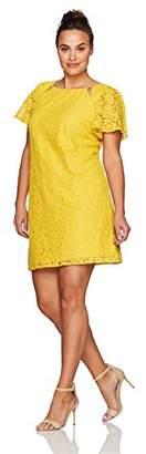 Julian Taylor Women's All Over Lace Shift Dress