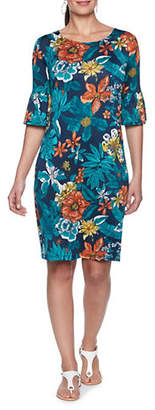 RUBY RD Tropical Floral-Print Shift Dress